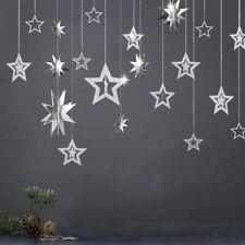 Glitter Silver Star Garlands Kit for Birthday Party supplies Nursery Kids Room
