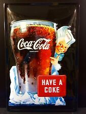 COCA COLA Have A Coke  Vintage Metal Wall Sign 3D Embossed ~COKE 20x30 cm