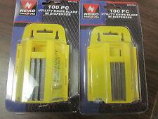 LOT OF 200 NEIKO TOOLS USA HEAVY DUTY UTILITY KNIFE BLADES ~NEW~