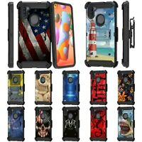 For Samsung Galaxy A11 Full Body Armor Rugged Holster Belt Clip Case