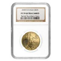 2008 W 1/2 oz $25 Proof Gold American Eagle NGC PF 70 UCAM