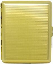 Gold Classic (Full Pack 100s) Metal-Plated Cigarette Case & Stash Box