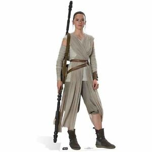 Star Wars The Force Awakens Rey Lifesize Cardboard Cutout With Stand
