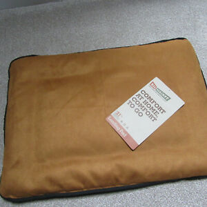 """BIG SHRIMPY Dog Bed - Crate Mat - Landing Pad - Medium  20"""" x 28"""" -Colour Saddle"""