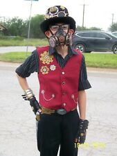 WITCH DOCTOR COSTUME Child Boys Medium Small Mask Bones Steampunk Kids Black NEW