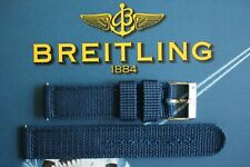 20MM MILITARY BLUE NYLON TONGUE BUCKLE WATCH BAND WATCHBAND STRAP FOR BREITLING