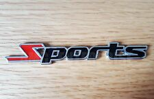 BLACK/RED 3D Metal SPORTS Badge Sticker for Fiat Grande Punto Evo Sporting Doblo