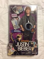 """JUSTIN BIEBER - Singing Doll - """"Baby"""" With Microphone Chair & Mini Magazine NEW!"""