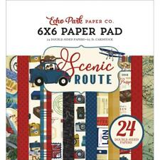 VACATION SCENIC Collection Scrapbooking 6x6 IN Paper Pad 24 Sheet Echo Park NEW