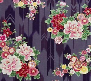Suzune Hyakka Ryoran Yabane Yagasuri Gold Accent Cotton Quilt Gate Fabric Japan
