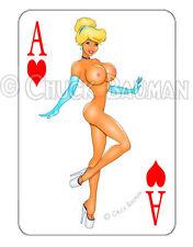 Cinderella bikini babe sexy playing card decal sexy pin-up babe sticker R