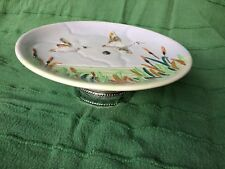 Shorter & Son porcelain tazza / cake stand Wild geese