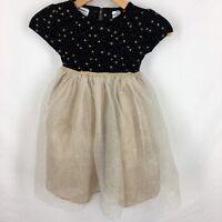 Blueberry Boulevard Girls Dress Size 5 Holiday Christmas Black Gold Sparkle