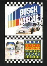 Winston Cup/Busch Series--1994 NASCAR Pocket Schedule--Busch Beer