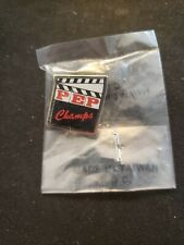 RARE NIB NEW Pin Pinback PEP Champs Movie Clapper
