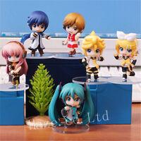 6pcs/Set Hatsune Miku PVC Figure Toy Colelction No Box