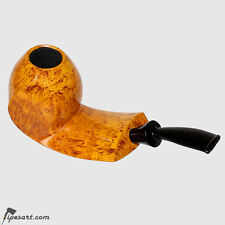 SMOOTH WIDE-SHANK FLOWFISH SMOKING PIPE BY GERMAN MASTER JOPP-BRILLIANT FINISH