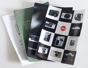 LEICA BOOKLETS SET OF 3