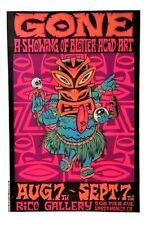 Gone POSTER Blotter Acid Art Showcase Rico Gallery Alan Forbes Signed Rare Mint!