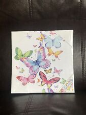 1 X Butterfly Print Canvas Wall Art Picture Unframed Decor Christmas Gift