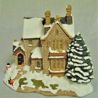 Lilliput Lane: The Old Vicarage at Christmas -  Box & Deed