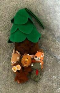 """The Gruffalo's Child Finger Puppets Tree House  8"""" Soft Toy Zipped Case Gruffalo"""