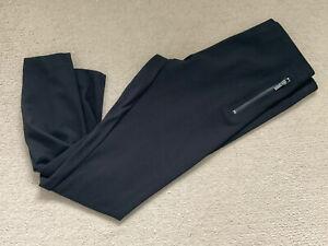 Next Size 14R Black Ponte Leggings - Zip Detailing
