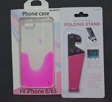 iPhone 6/6s Pink Gel Case and Folding Stand Combo Brand New