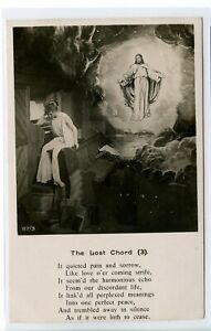 VINTAGE RPPC POSTCARD ~ UDB ~ REAL PHOTO ~ THE LOST CHORD (3) ~ BAMFORTH