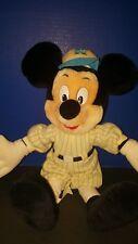 "Mouseketoys 16"" Baseball Mickey Disney World Plush Stuffed Animal Toy Disneyland"