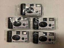 5-PACK Fuji Film Camera With Flash, 24 Exposures, High Speed Fuji Film, 35 mm