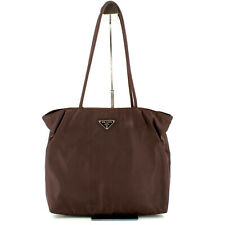 Authentic Prada Vintage Nylon Shoulder Bag in Brown [Made in Italy]