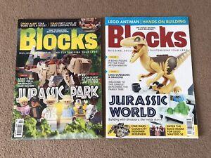 LEGO Blocks Magazines - Issue No. 49 & 59 Jurassic Park / Jurassic World