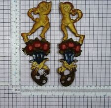 SET SIDE ORNAMENTS DUTCH FOLKLORE HINDELOOPEN BAKKERS CLOCK