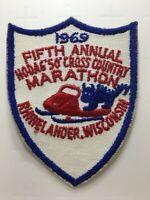 Vtg 1969 5th Annual Hodag Marathon Rhinelander WI Cross Country Snowmobile
