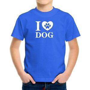 Love Dog Paw Toddler Kids Tee T-Shirt Animal Lover Printed Love Gift Heart Paw