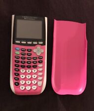 Texas Instruments TI-84 Plus C Silver Edition Graphing Calculator Pink Display