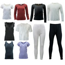 Mens Womens Merino Wool Longsleeve Thermal Singlet Top Pants Leggings Long Johns