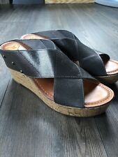Madeline Womens Stretch Wedge Sandals Platinum Size 9.5M