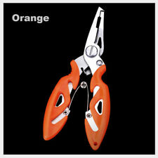 Sports Fishing Plier Scissor Bait Line Lure Cutter Hook Remover Tackle Tool Orange