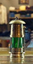 "Antique Brass Miner Lamp Nautical Ship Lantern Oil Lamp 6"" Maritime Boat Lamp"