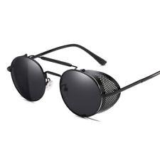 Vintage Retro Steampunk Sunglasses Side Shield Goggles Metal Cyber Round Glasses