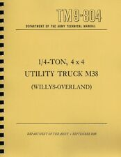 TM9 804 ~ ¼ Ton 4X4 Truck M38 ~ Willys-Overland ~ Jeep Manual ~ Reprnt