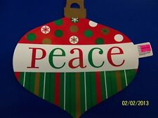 Peace Ornament Winter Red Green Dots Christmas Holiday Party Decoration Cutout