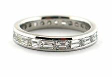 2.02 CT Natural baguette cut diamond eternity band VS1/F 14K white gold