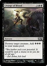 Liturgy of Blood X4 M14 Core Set MTG Magic Cards Black Common