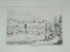Kenzingen Bad Kürnhalde Baden Ansicht Original Litho Lederle 1879