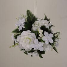 "Kissing Ball 6""  Pomander Gardenia Rose Wedding Silk Flowers 00249880001  White"