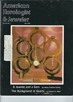 MF-065 - American Horologist & Jeweler Magazine May 1978 Jeweler and a Gem vntg