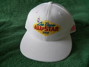 New Adidas 2007 NBA BASKETBALL Las Vegas All-Star Game Fitted Hat size 7 3/8 NWT